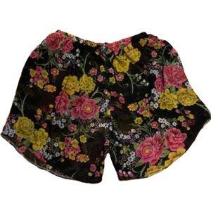 ANTHROPOLOGIE Silk Lingerie Sleep Shorts Size S